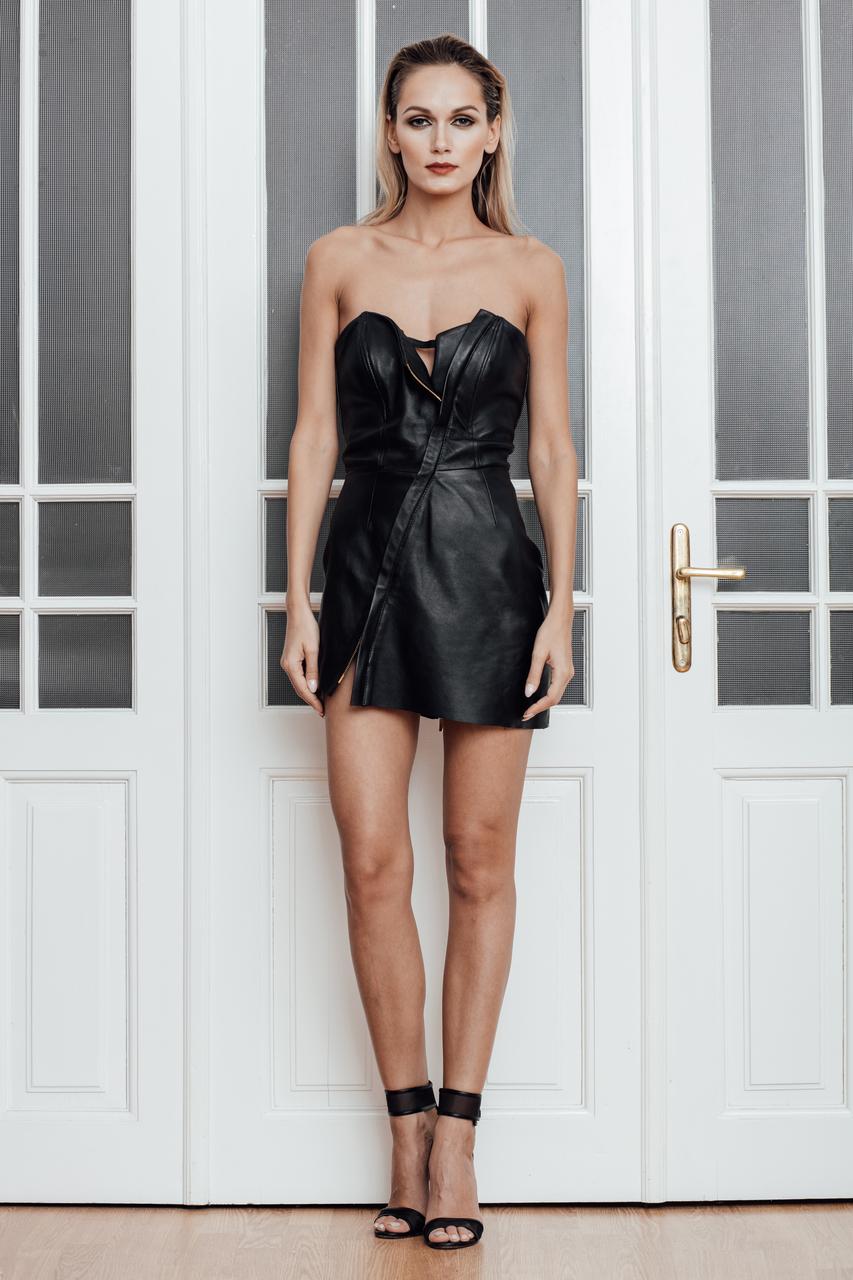 Sexy Leather Corset Dress Norinast Shop