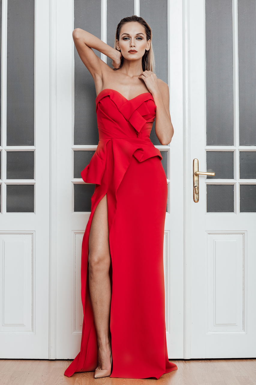 Red sexy gown