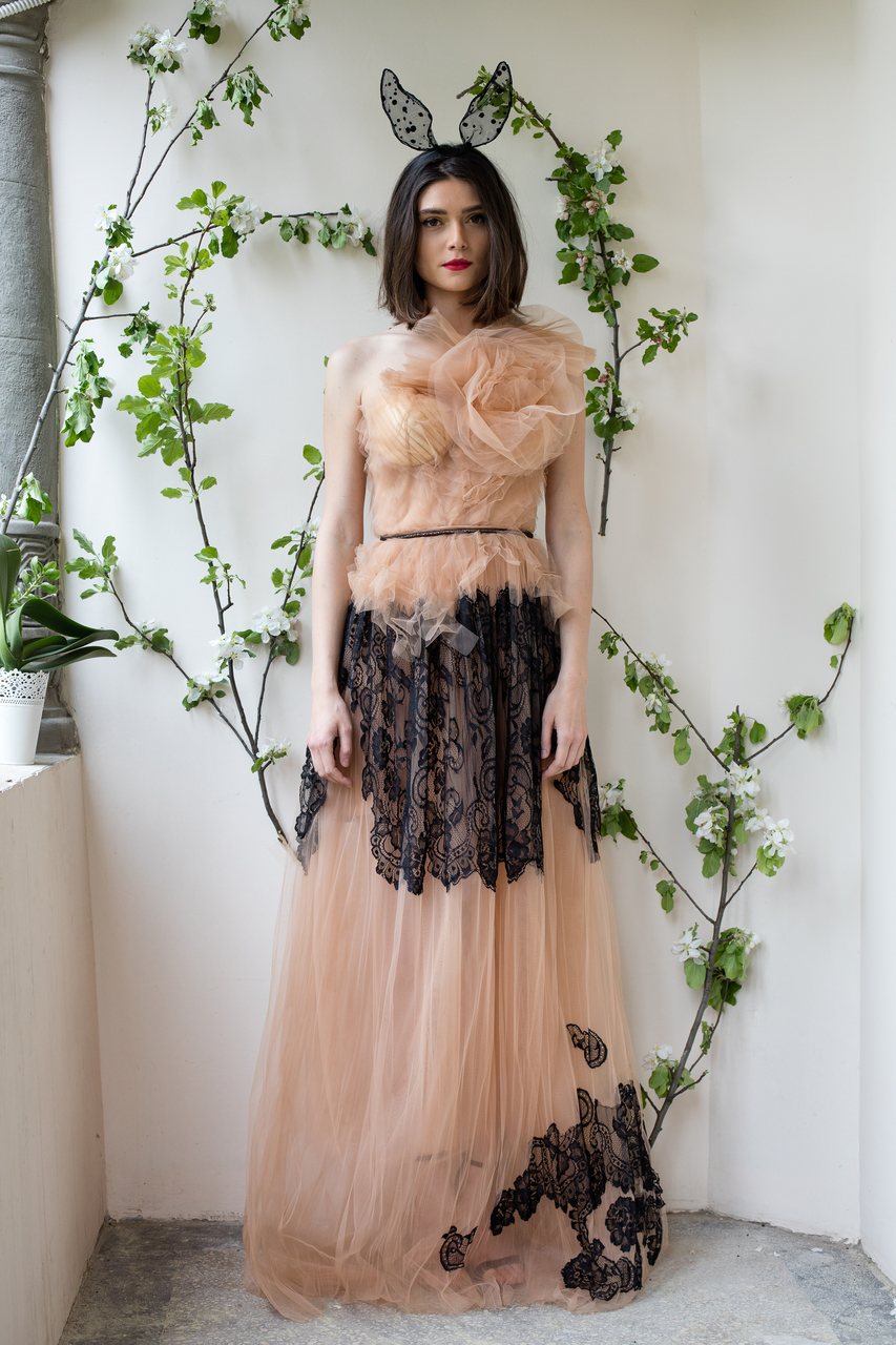 Tulle rose corset gown - NorinaSt Shop
